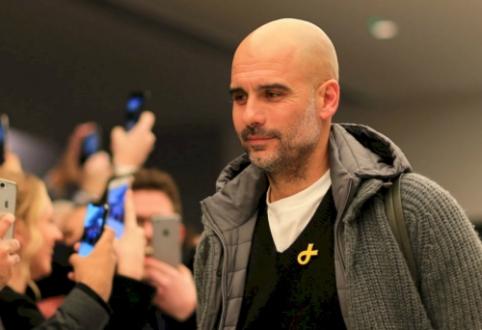 """P. Guardiola: """"Neįtikėtina, kad kovojome dėl keturių trofėjų"""""""