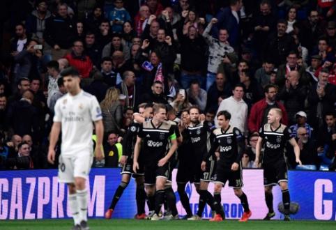 """Istorijos pabaiga: """"Ajax"""" įspūdingu stiliumi eliminavo tris metus Europoje karaliavusį """"Real"""""""