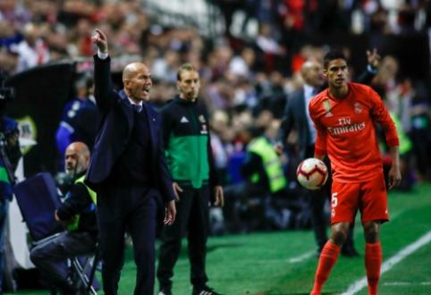 """Z. Zidane'as nebesusilaikė: """"Aš visada ginu savo žaidėjus, bet dabar jie rodo nepagarbą klubui"""""""