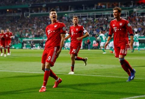 """Penkių įvarčių dramoje """"Bayern"""" iškovojo vietą Vokietijos taurės finale"""