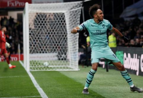 """P. Aubameyango įvartis atvedė """"Arsenal"""" į svarbią pergalę"""
