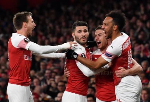 """EL: """"Arsenal"""" ir """"Benfica"""" viena koja žengė į pusfinalį"""
