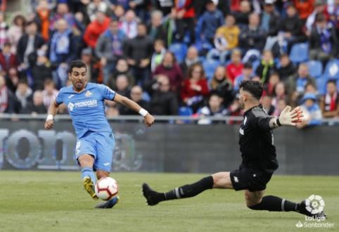 """""""Getafe"""" lieka ketvirtoje vietoje, """"Sevilla"""" palaužė """"Valladolid"""""""