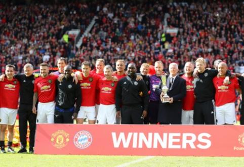 """""""Man Utd"""" ir """"Bayern"""" legendų mače – triuškinanti Fergusono auklėtinių pergalė"""