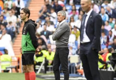 """""""Real Betis"""" po pergalės Madride atleido Q. Setieną"""