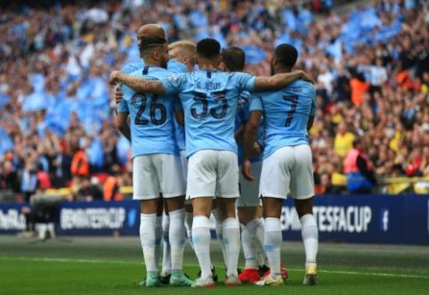 """Į Anglijos futbolo istoriją įsirašęs """"Man City"""" – FA taurės nugalėtojas"""