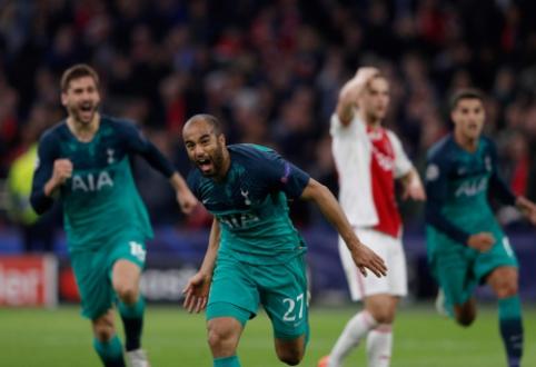 """Stebuklai tęsiasi: """"Tottenham"""" paskutinėmis sekundėmis išsikovojo vietą ČL finale"""
