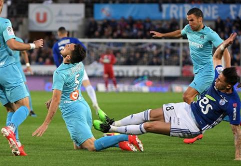 """""""Ligue 1"""": """"Marseille"""" neįveikė """"Strasbourg"""""""