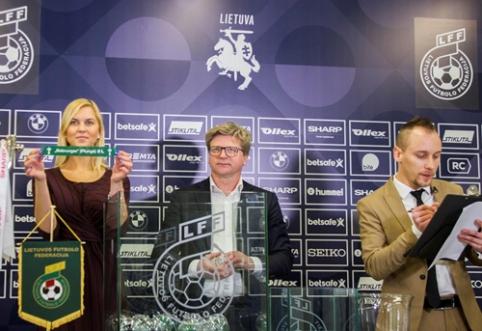 LFF taurės burtai - gegužės 8 d. Vilniuje