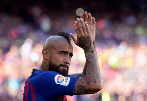 """A.Vidalis nenori palikti """"Barcelona"""" klubo"""