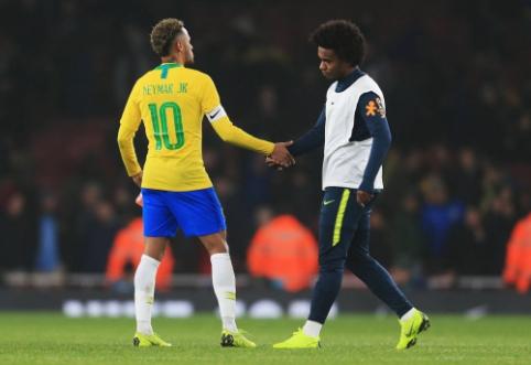 Neymarą Brazilijos rinktinėje pakeis Willianas