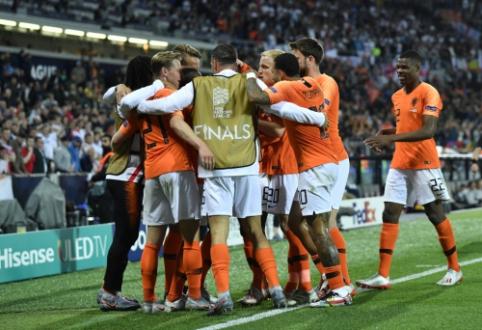 Nyderlandai Tautų lygos pusfinalyje palaužė grubiai klydusius anglus
