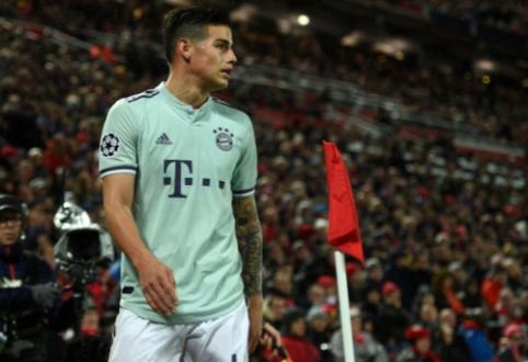 "Oficialu: ""Bayern"" neišpirks J. Rodriguezo kontrakto"