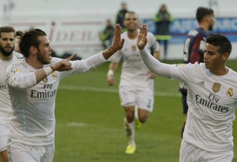 """Pasikeitimai """"Real"""" gretose: G. Bale'as išvyksta į Kiniją, J. Rodriguezas – grįžta"""