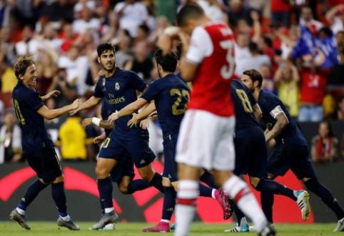 """""""Real"""" gražioje kovoje po 11 m. baudinių serijos palaužė """"Arsenal"""", """"Milan"""" krito prieš """"Bayern"""""""