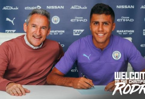 """Oficialu: Rodri pasirašė kontraktą su """"Man City"""""""