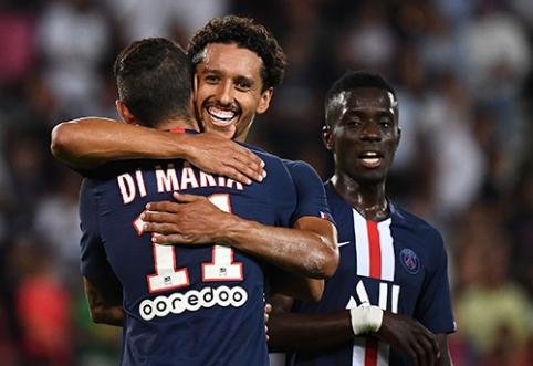 """PSG sutriuškino varžovus, """"Monaco"""" pasiekė lygiąsias"""
