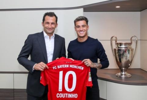 """Oficialiai prie """"Bayern"""" prisijungęs P. Coutinho: """"Turiu labai didelių ambicijų"""""""
