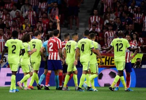 """Raudonų kortelių fiestoje – minimali """"Atletico"""" pergalė"""