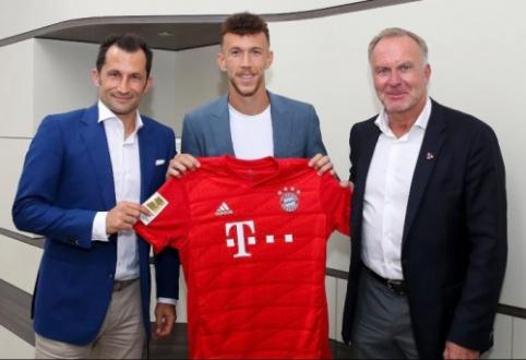 """Oficialu: """"Bayern"""" skolinasi """"Inter"""" kroatą I. Perišičių"""