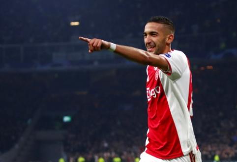 """H. Ziyechas paaiškino, kodėl nusprendė likti """"Ajax"""" gretose"""
