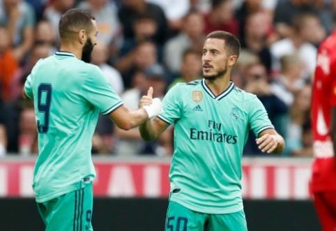 """E. Hazardas atsidarė įvarčių sąskaitą Madrido """"Real"""" klube"""