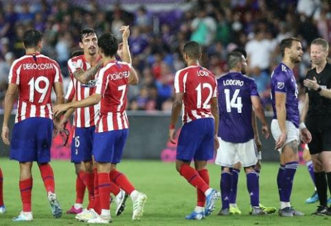 """""""Atletico"""" draugiškose rungtynėse nugalėjo MLS žvaigždes"""