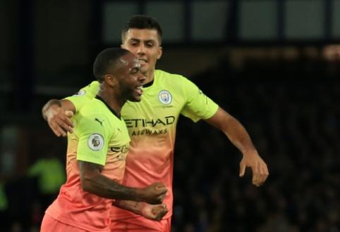 """""""Man City"""" antrajame kėlinyje įrodė pranašumą prieš """"Everton"""""""