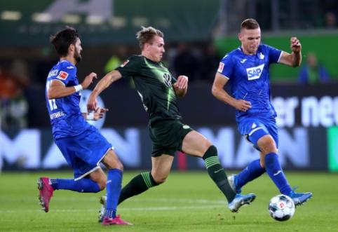 """""""Wolfsburg"""" ir """"Hoffenheim"""" pasidalino po tašką"""