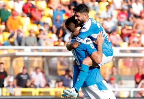 """Napoli"" neturėjo vargo su ""Lecce"", ""Atalanta"" išsigelbėjo mače su ""Fiorentina"""