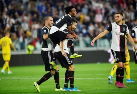 """Netikėtą smūgį rungtynių pradžioje gavusi """"Juventus"""" ekipa palaužė """"Veroną"""""""