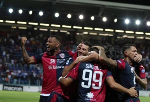 """Italijoje - dramatiška """"Cagliari"""" ekipos pergalė"""
