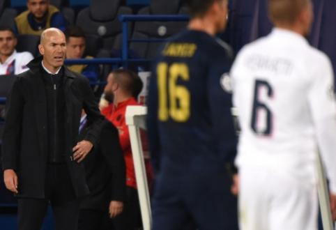 """Z. Zidane'as: """"Sunku tikėtis gero rezultato, kai niekas neįdeda pastangų"""""""