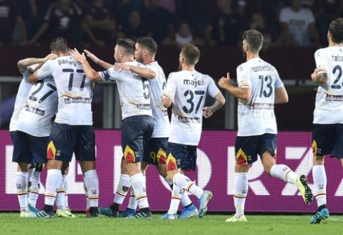"""""""Lecce"""" išvykoje netikėtai įveikė """"Torino"""" ekipą"""