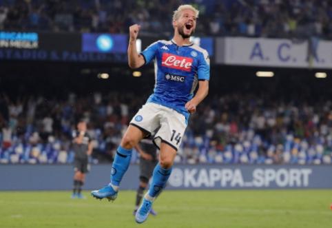 """D. Mertensas nukalė """"Napoli"""" ekipos pergalę, """"Inter"""" palaužė """"Udinese"""""""