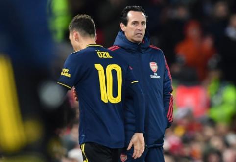 """U. Emery džiaugėsi komandos pasirodymu mače su """"Liverpool"""""""