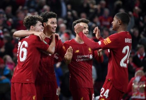 """Lygos taurė: """"Liverpool"""" įvarčių fiestoje pranoko """"Arsenal"""", """"Man Utd"""" palaužė """"Chelsea"""""""