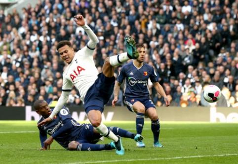 """""""Tottenham"""" ir vėl liko be pergalės, """"Chelsea"""" ir """"Man City"""" įveikė savo varžovus"""