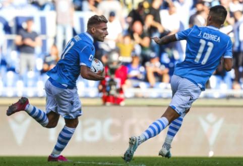 """Trijų įvarčių deficitą panaikinusi """"Lazio"""" ekipa išplėšė tašką mače su """"Atalanta"""""""