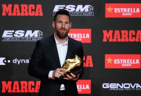 """L. Messi atsiėmė šeštąjį """"Auksinį batelį"""" savo karjeroje"""