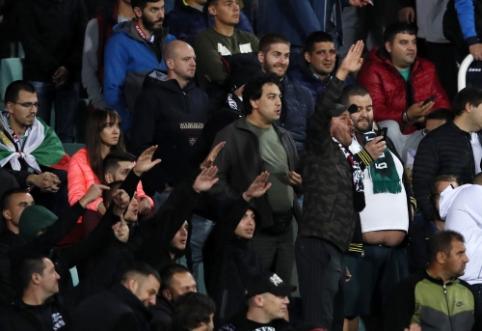 Bulgarijos ir Anglijos mače – nacistiniai gestai ir ribų nejaučiantys šeimininkų fanai