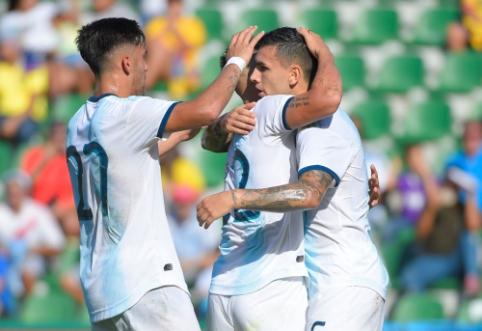 Argentiniečiai pasismagino mače su Ekvadoru, brazilai neįveikė Nigerijos rinktinės