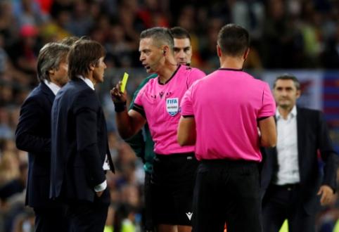 """A. Conte po mačo su """"Barcelona"""" buvo nepatenkintas teisėjų darbu"""