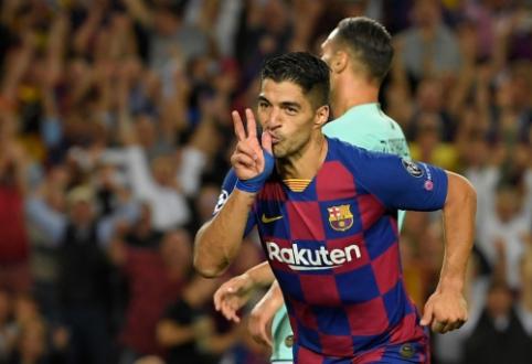 """L. Suarezo dublis pražudė """"Inter"""", """"Salzburg"""" buvo arti sensacijos Liverpulyje"""
