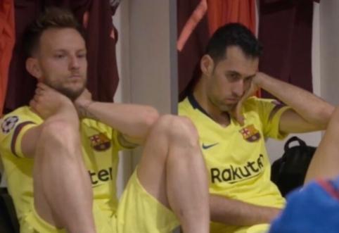 """Pamatykite: """"Barcelona"""" futbolininkų emocijos po nesėkmės """"Anfield"""" stadione"""