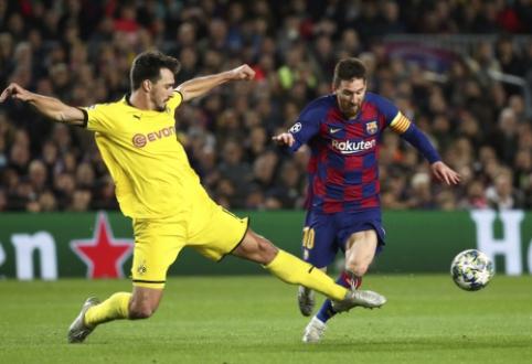 """M. Hummelsas: """"Messi yra geriausias futbolininkas, kurį kada nors esu matęs"""""""
