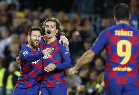 """""""Barcelona"""" užsitikrino kelialapį į aštuntfinalį, """"Liverpool"""" išplėšė lygiąsias mače su """"Napoli"""""""