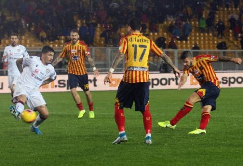 """E. Dubickas debiutavo """"Serie A"""" pirmenybėse, o jo komanda išplėšė lygiąsias mače su """"Cagliari"""""""