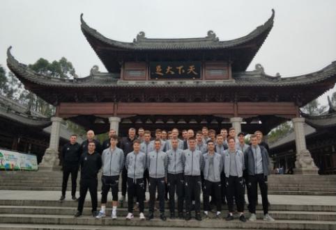 Lietuvos U-22 rinktinė garbingai nusileido kinams