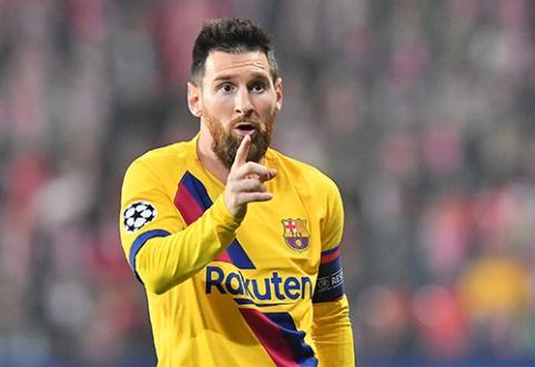 """L.Messi pradėjo pokalbius dėl naujos sutarties su """"Barca"""""""